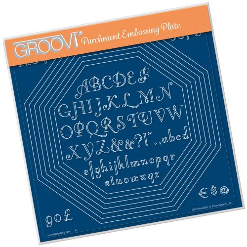 Clarity Stamps - Octagon Extension & Art Deco Alphabet A4 Square Groovi Plate